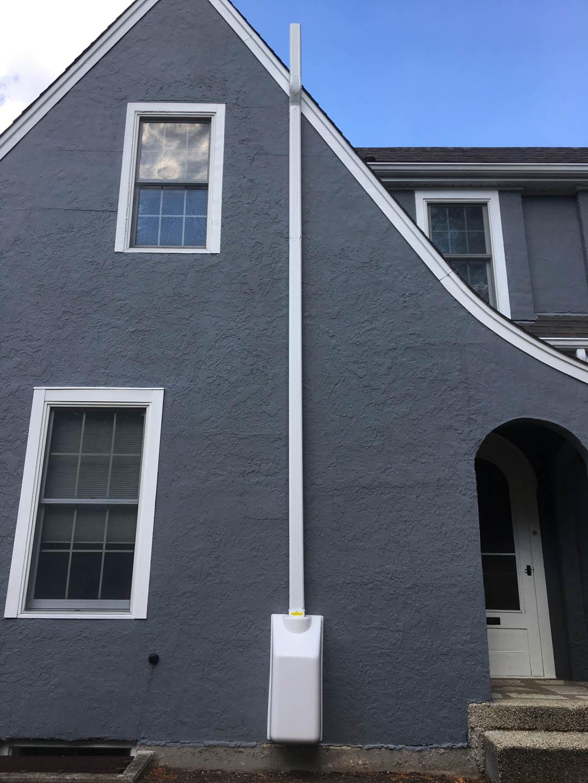 Home With Radon Mitigation System